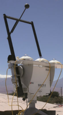 SOLS 2 sun tracker in the Chilean Desert