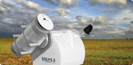 PGS-100 sun photometer on SOLYS 2 sun tracker